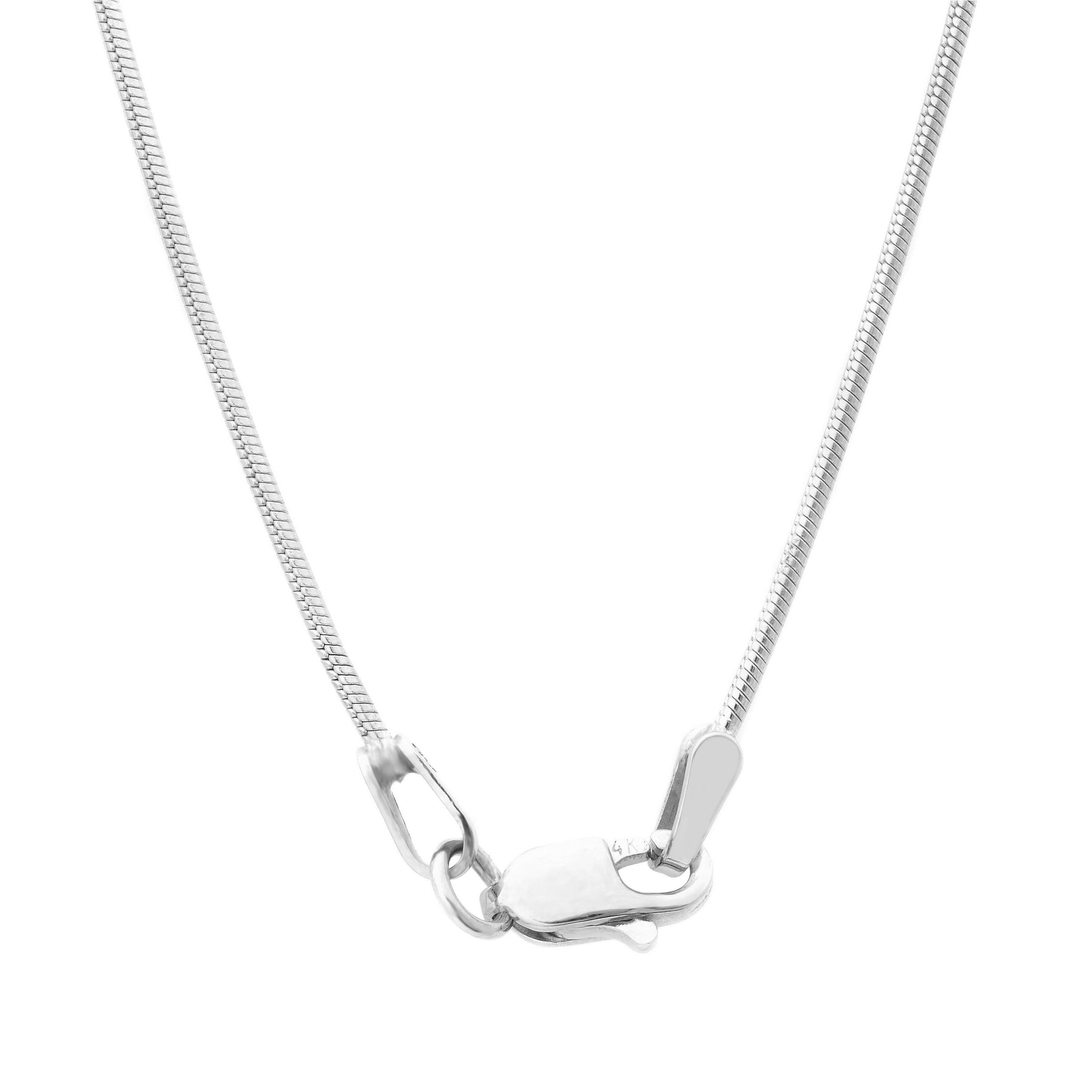shop roberto martinez 14k white gold diamond cut snake chain Super Weave shop roberto martinez 14k white gold diamond cut snake chain necklace free shipping today overstock 8935792