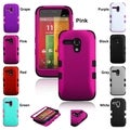 INSTEN Rubberized TUFF Hybrid Phone Protector Phone Case Cover for Motorola Moto G