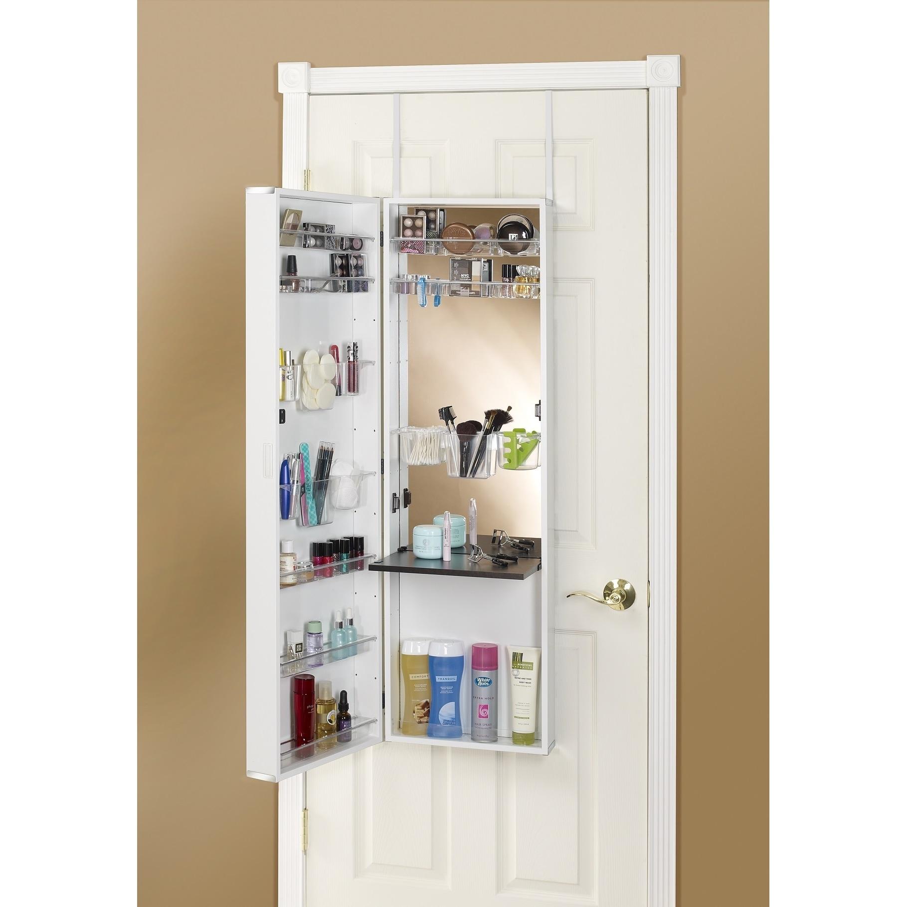 Clay Alder Home Buckman Over The Door Mirror Makeup Vanity Armoire   Free  Shipping Today   Overstock   16152744