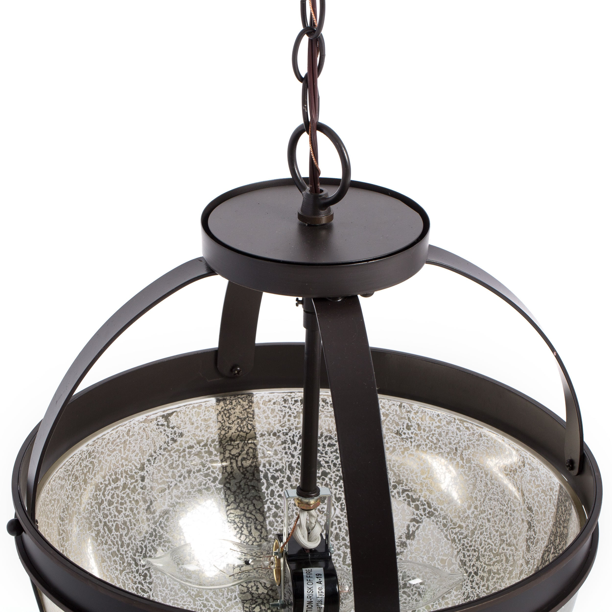 Sfera 2 light Autumn Bronze Semi flush Convertible Pendant with