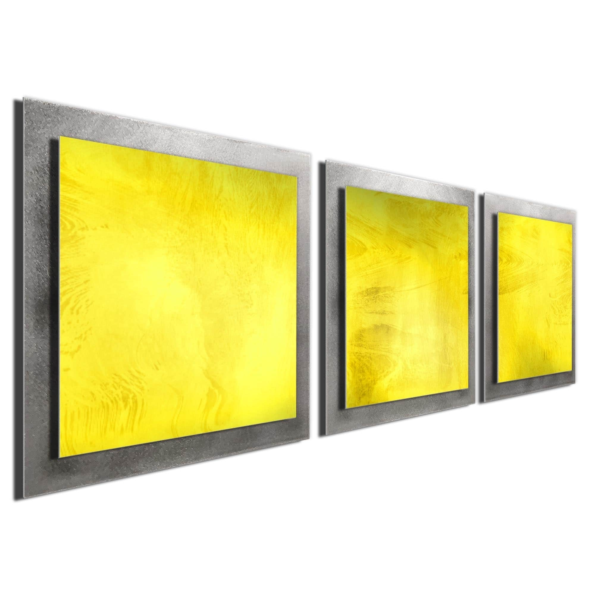 Shop Contemporary \'Yellow Essence\' Layered Metal Wall Art - On Sale ...