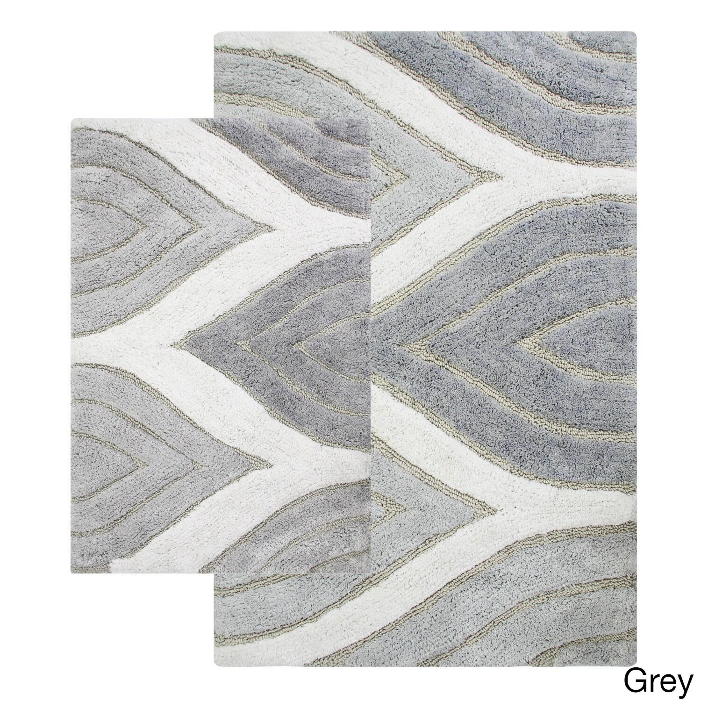 davenport cotton 2-piece bath rug set - includes bonus step out