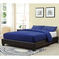 Brown Upholstered Platform Bed