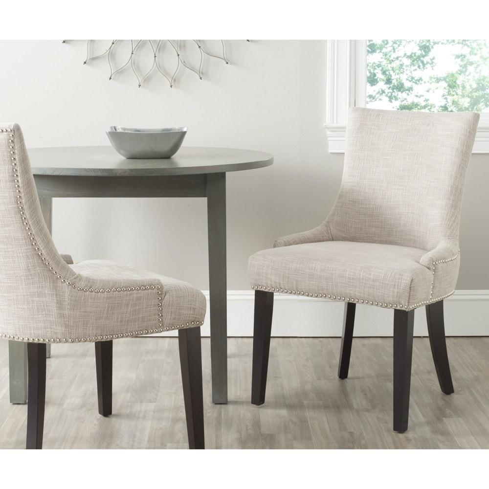 Safavieh en vogue dining lester grey viscose blend dining chairs set of 2