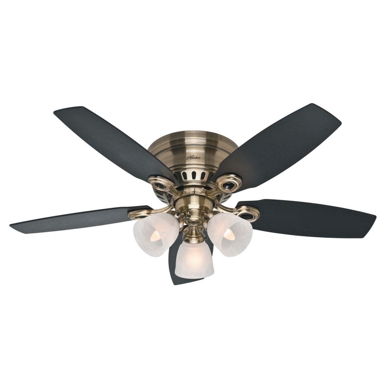 Hunter Fan Hatherton Antique Brass 46 Inch Ceiling Free Today Com 8948493