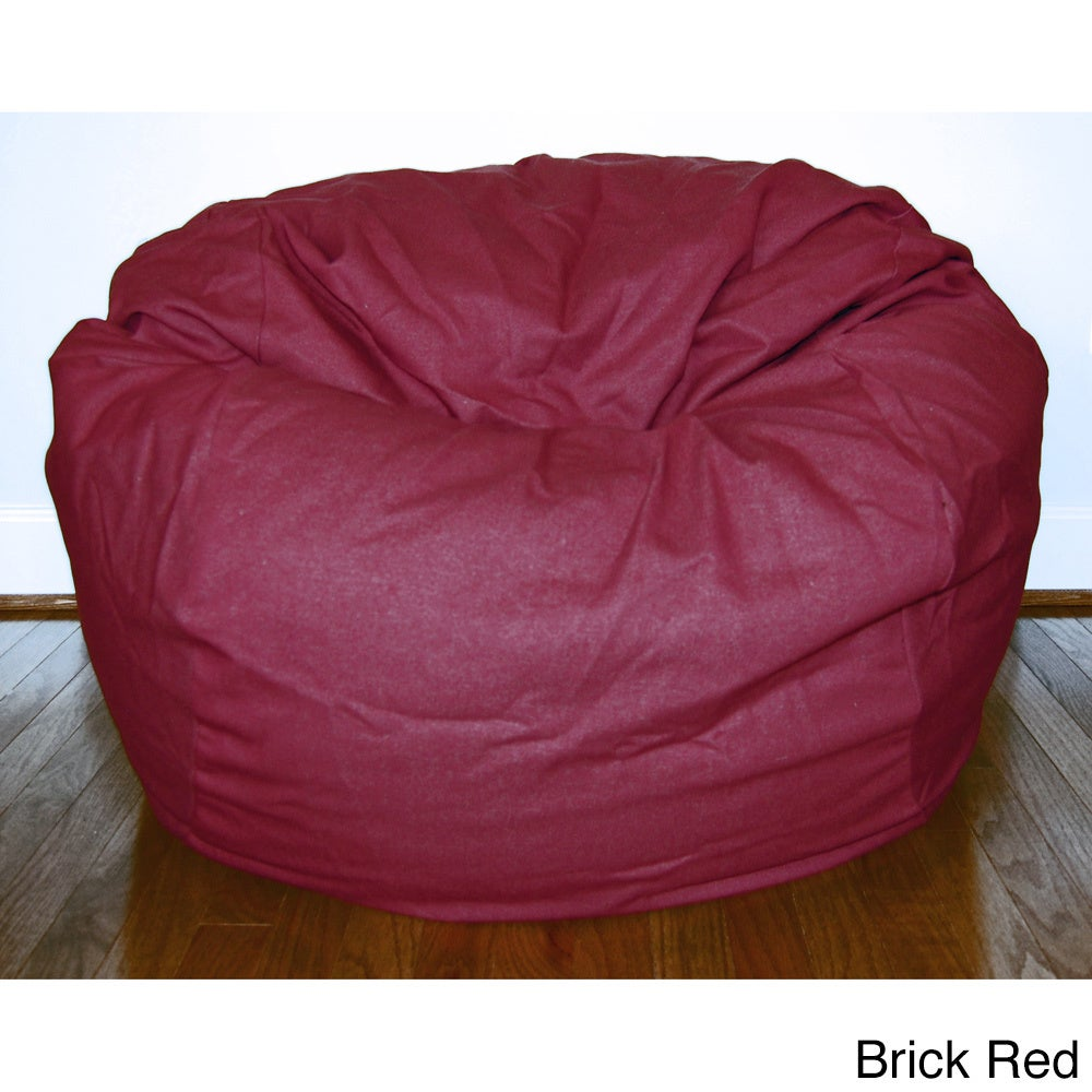 Denim 36 Inch Washable Bean Bag Chair