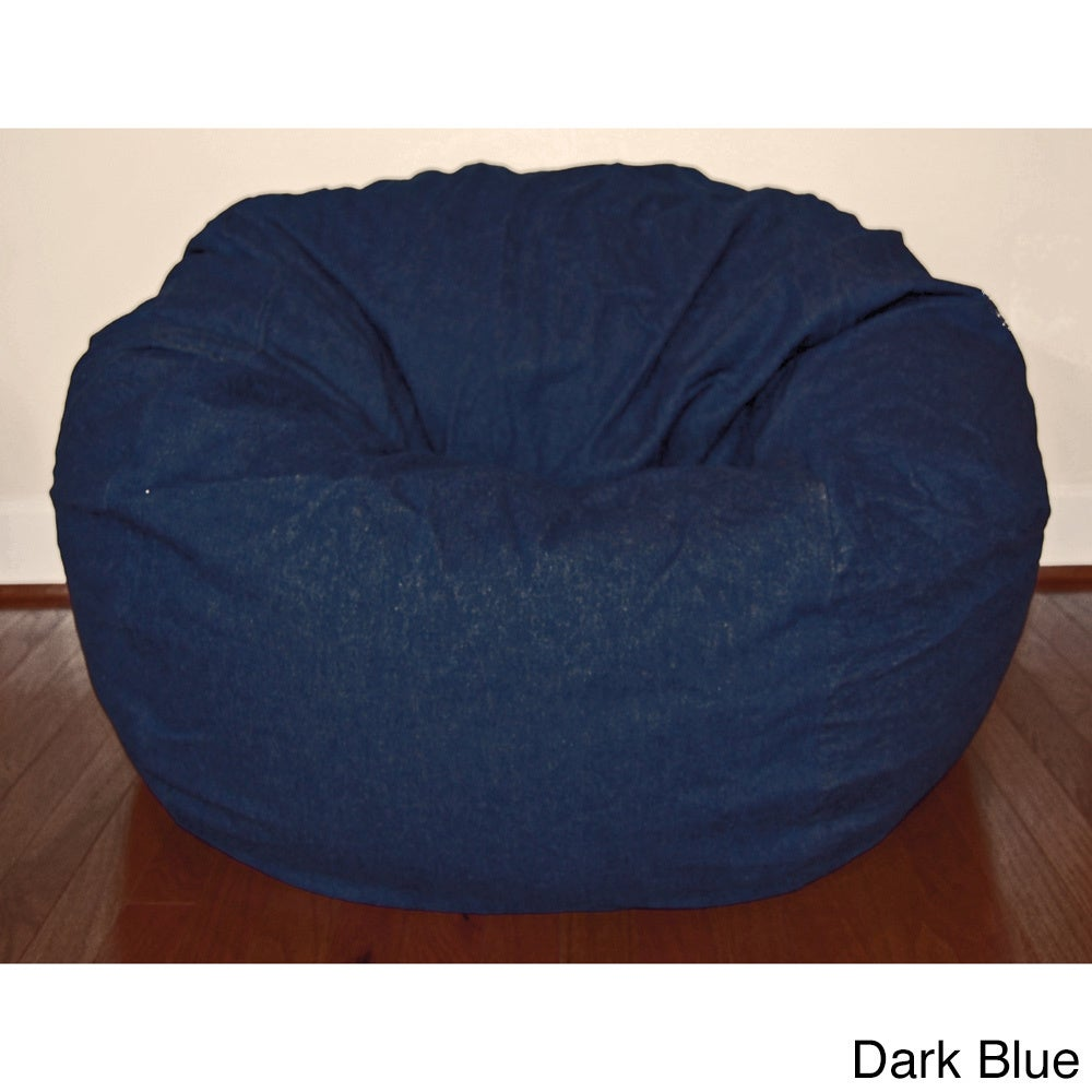 Denim 36 Inch Washable Bean Bag Chair On Free Shipping Today 8949769