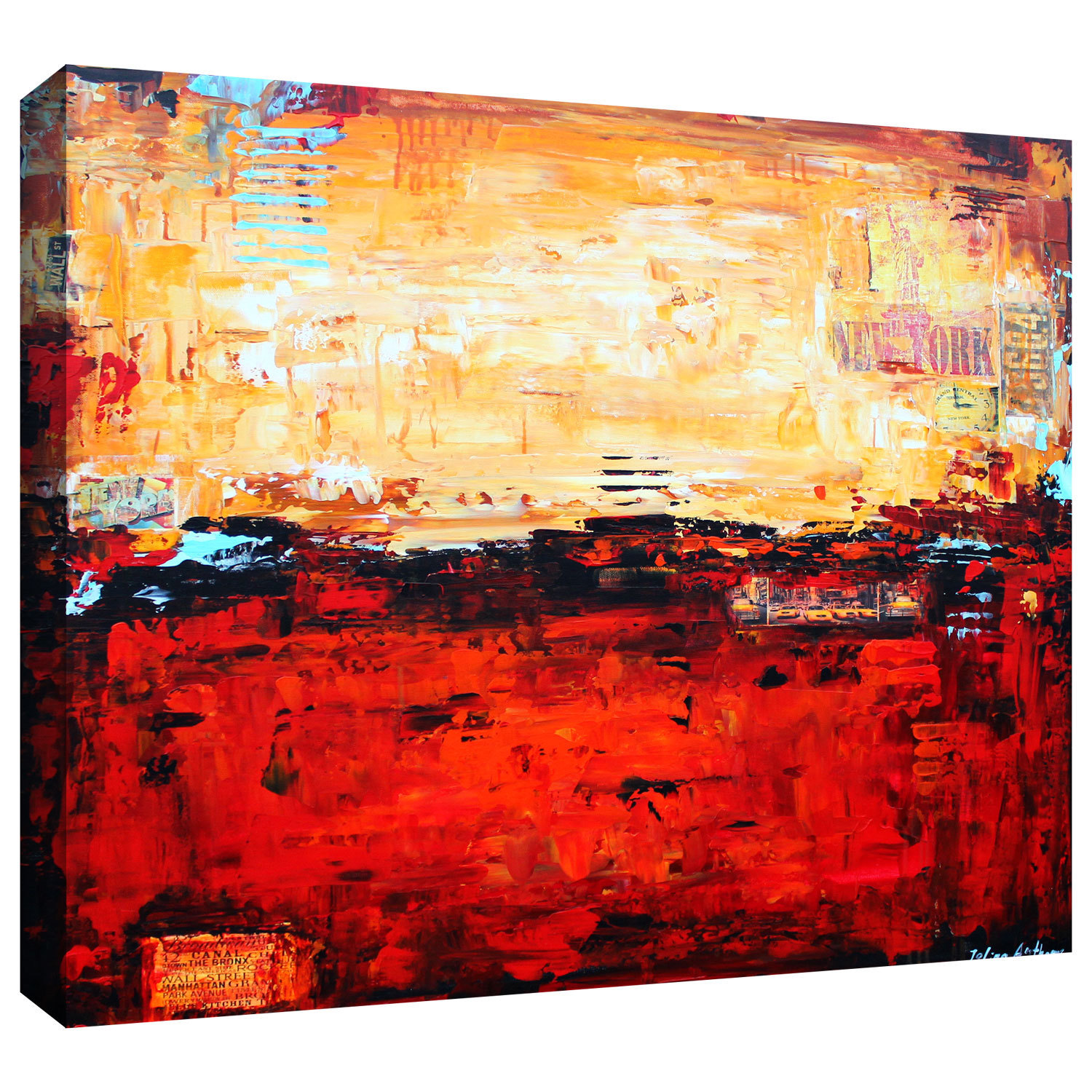 ArtWall Jolina Anthony \'Abstract Warm\' Gallery-Wrapped Canvas - Free ...