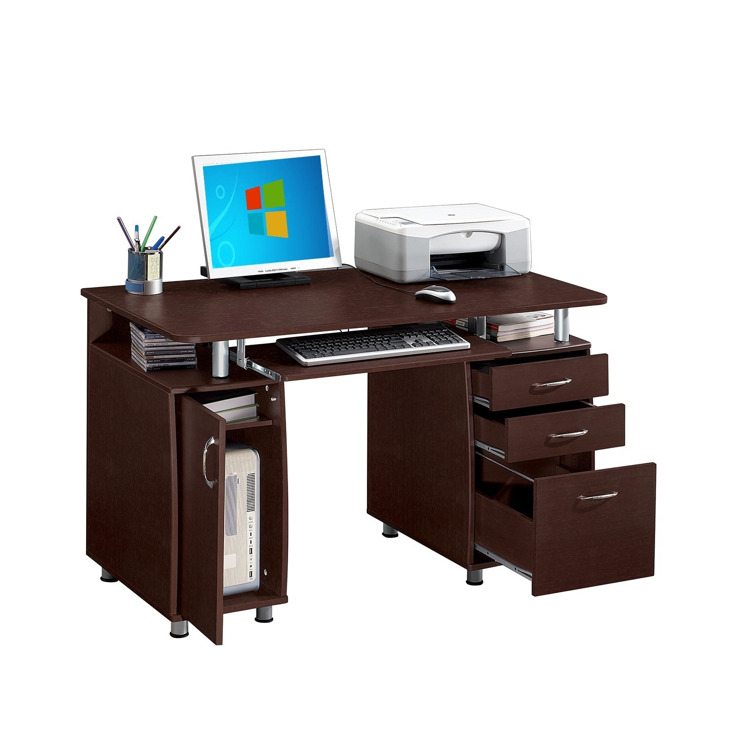 Modern Designs Multifunctional Office Desk With File Cabinet Free Shipping Today 16172157