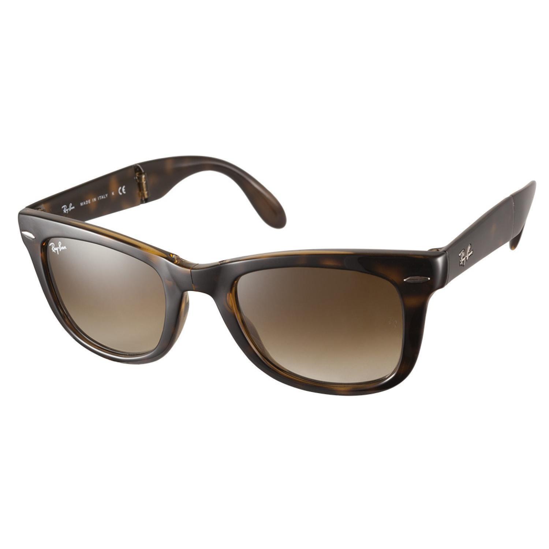 deaaf76a8b7 Shop Ray-Ban RB4105 710 51 Folding Wayfarer Tortoise 50 Sunglasses - Free  Shipping Today - Overstock.com - 8962129