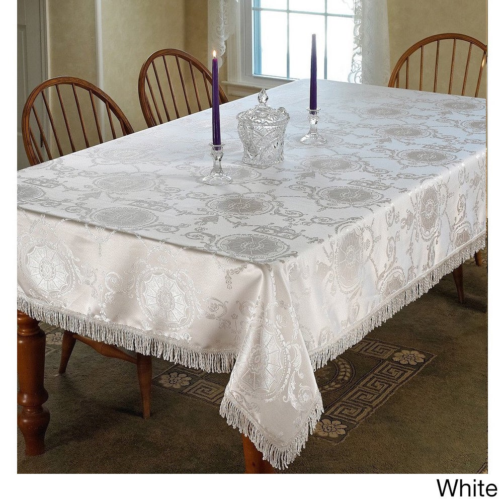 Prestige Damask Design Tablecloth   Free Shipping On Orders Over $45    Overstock   16172394