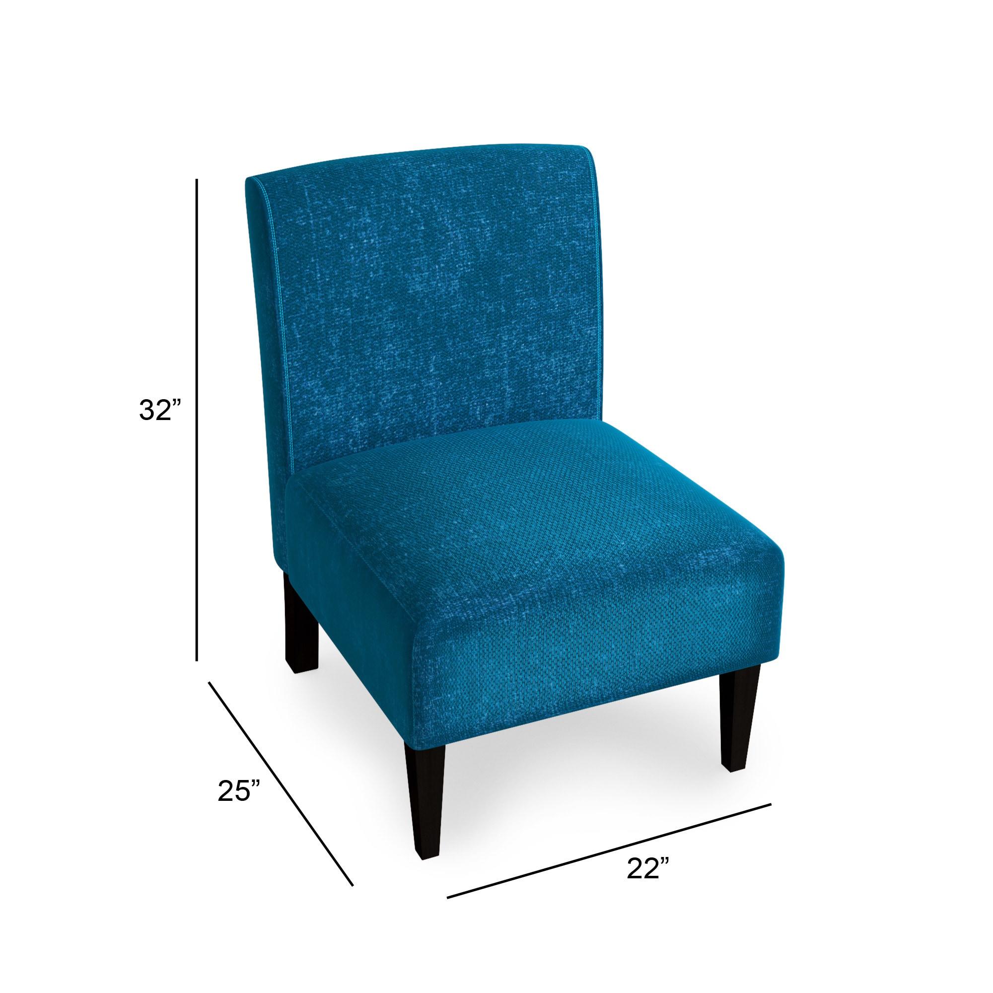 Porch & Den Logan Square Lawndale Blue Armless Accent Chair - Free ...