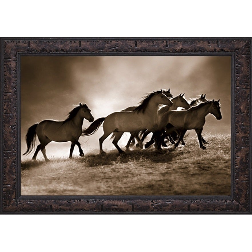 Shop Wild Horses\' by Lisa Dearing Framed Art Print - On Sale - Free ...