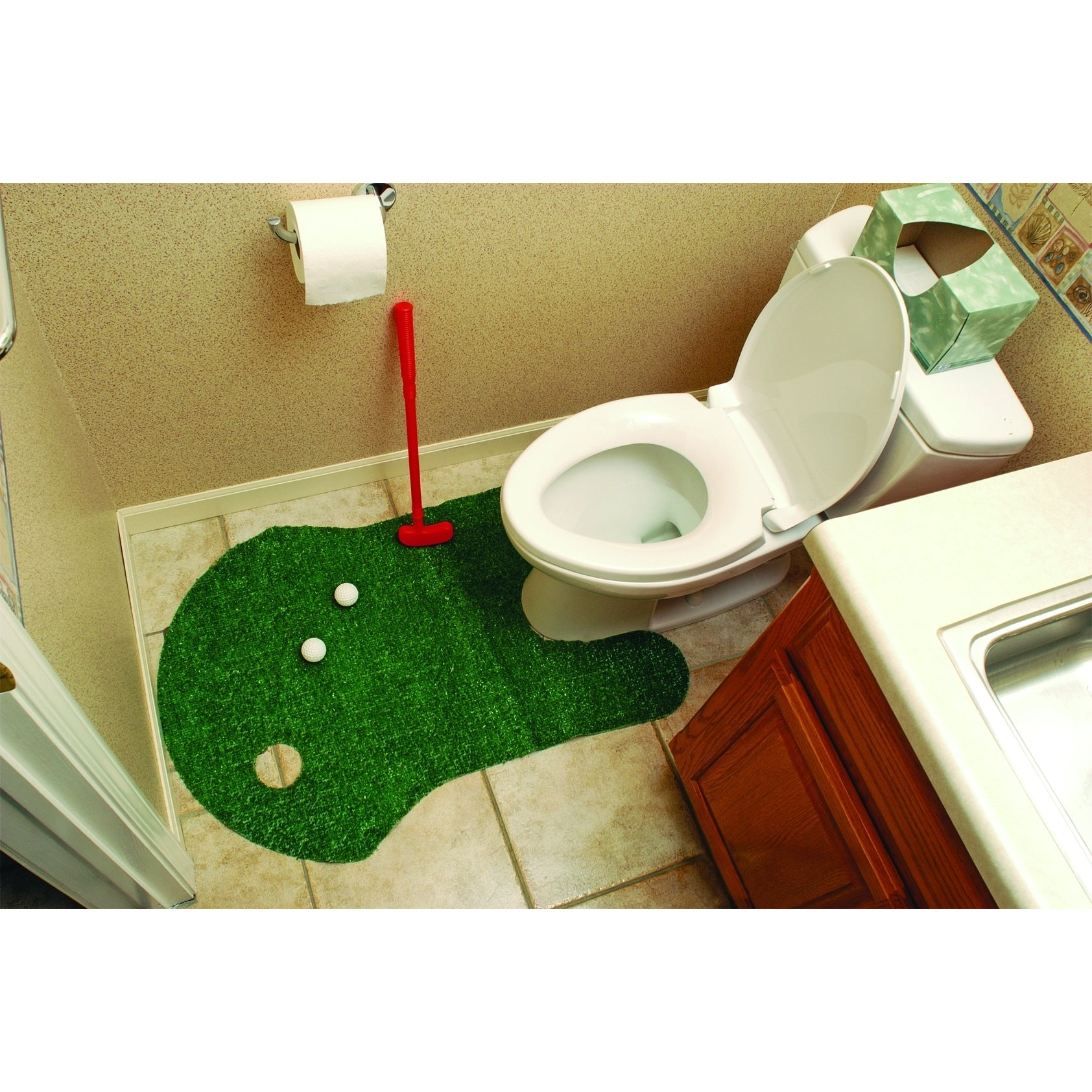 Genial Shop Bathroom Putting Green Golf Game   Free Shipping On Orders Over $45    Overstock.com   8967581
