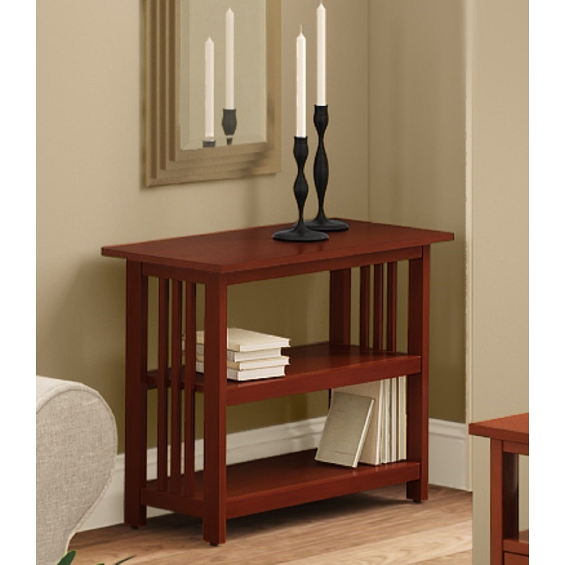 Copper Grove Boutwell Clic Mission Style Under Window Bookshelf On Free Shipping Today 20461252