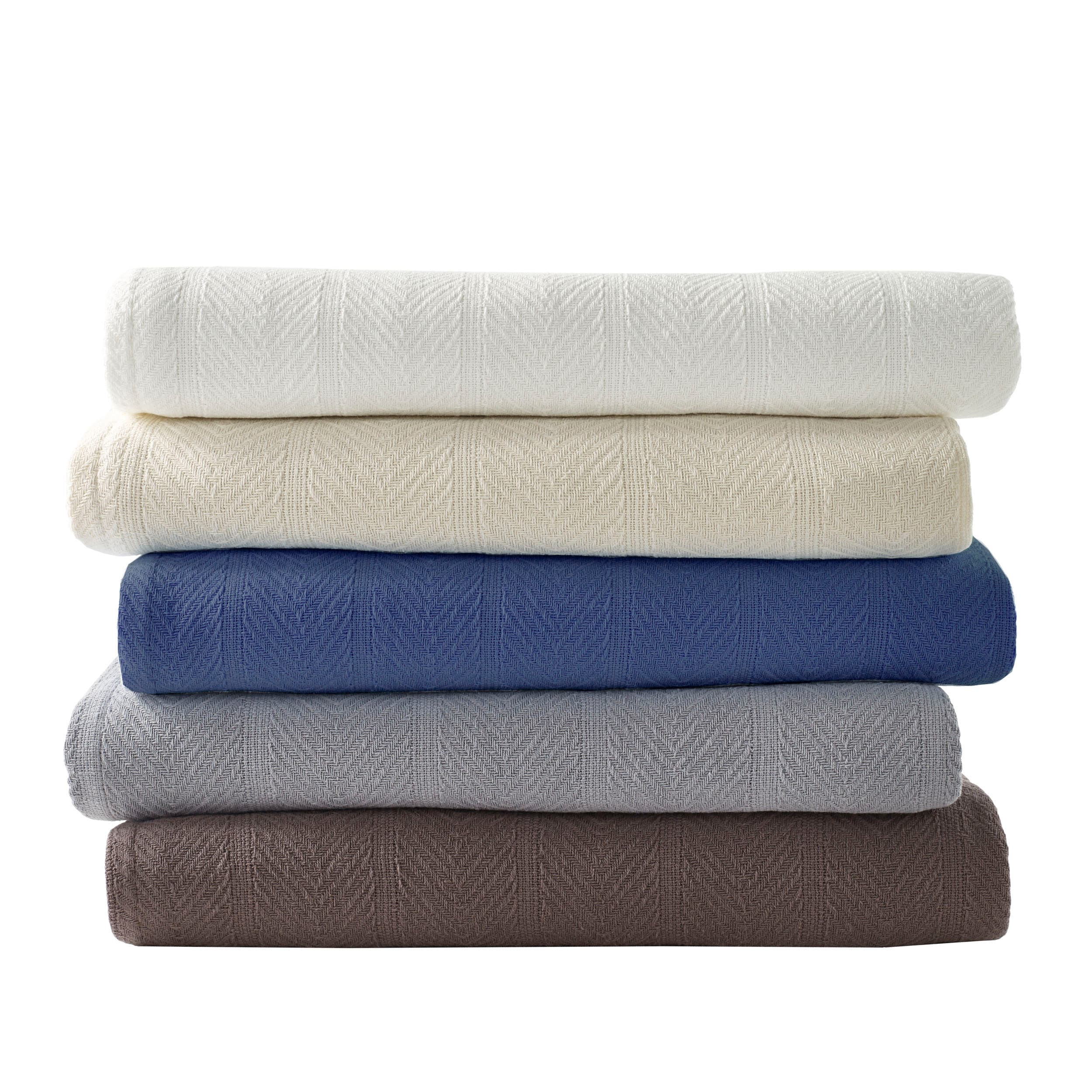 Ed Bauer Herringbone Cotton Blanket Free Shipping Orders