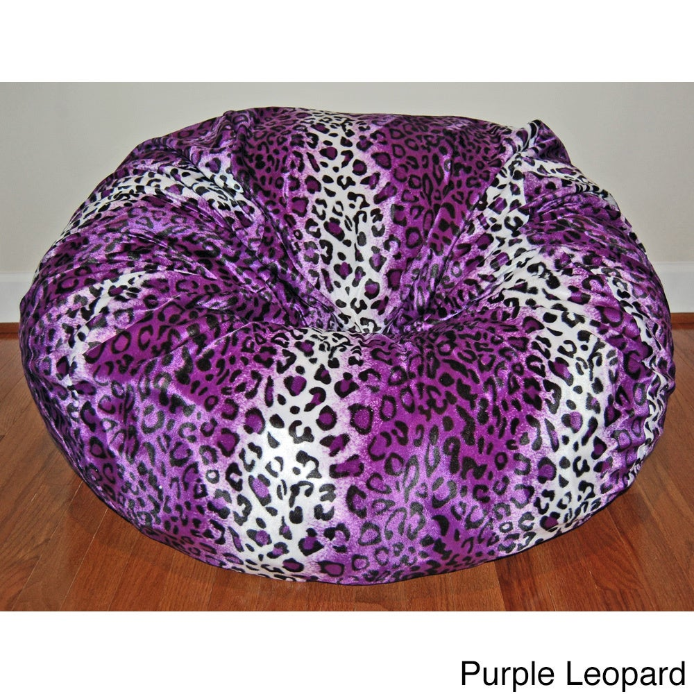 Shop Faux Animal Fur Washable 36 Inch Bean Bag Chair   On Sale   Free  Shipping Today   Overstock.com   8968212