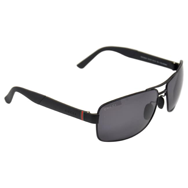 616effa019f6e Shop Gucci Men s  GG 2234 S C0Y3H  Matte Black Polarized Sunglasses - Large  - Free Shipping Today - Overstock - 8968795