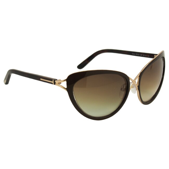 5f27a80235 Shop Tom Ford Women s  FT0321 Daria 28F  Gradient Brown Cat-eye Sunglasses  - Free Shipping Today - Overstock - 8968799