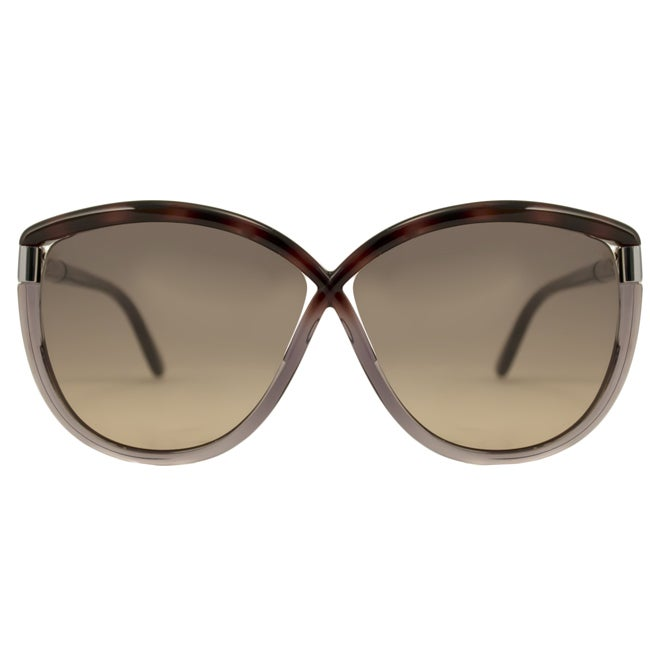 3d44f928e3c72 Shop Tom Ford Women s  FT0327 Abbey 56B  Havana Grey Sunglasses - Free  Shipping Today - Overstock - 8968806