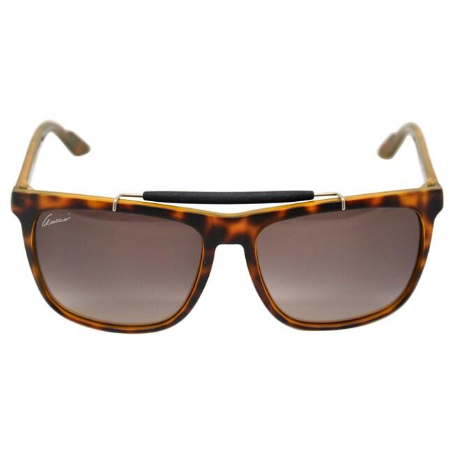 e6d61743da1dd Shop Gucci Women s  GG 3140 S 791  Havana Sunglasses - Free Shipping Today  - Overstock - 8968809