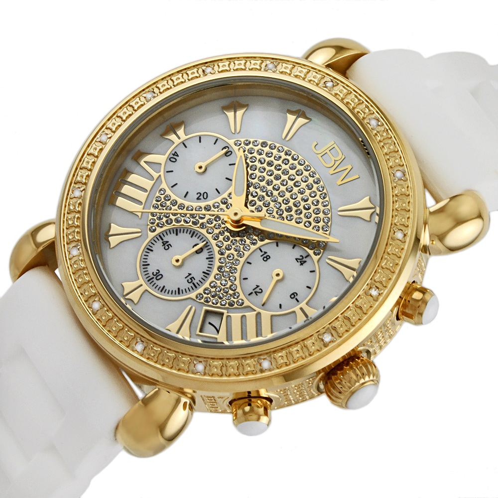 80ef52fd9 Shop JBW Women's 'Victory' Goldtone Diamond Watch - Free Shipping Today -  Overstock - 8969378