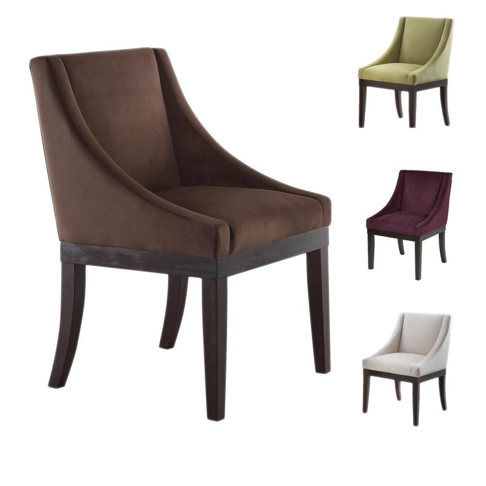 Etonnant Shop Monarch Velvet Solid Wood Legs Wingback Chair   Free Shipping Today    Overstock.com   20461258