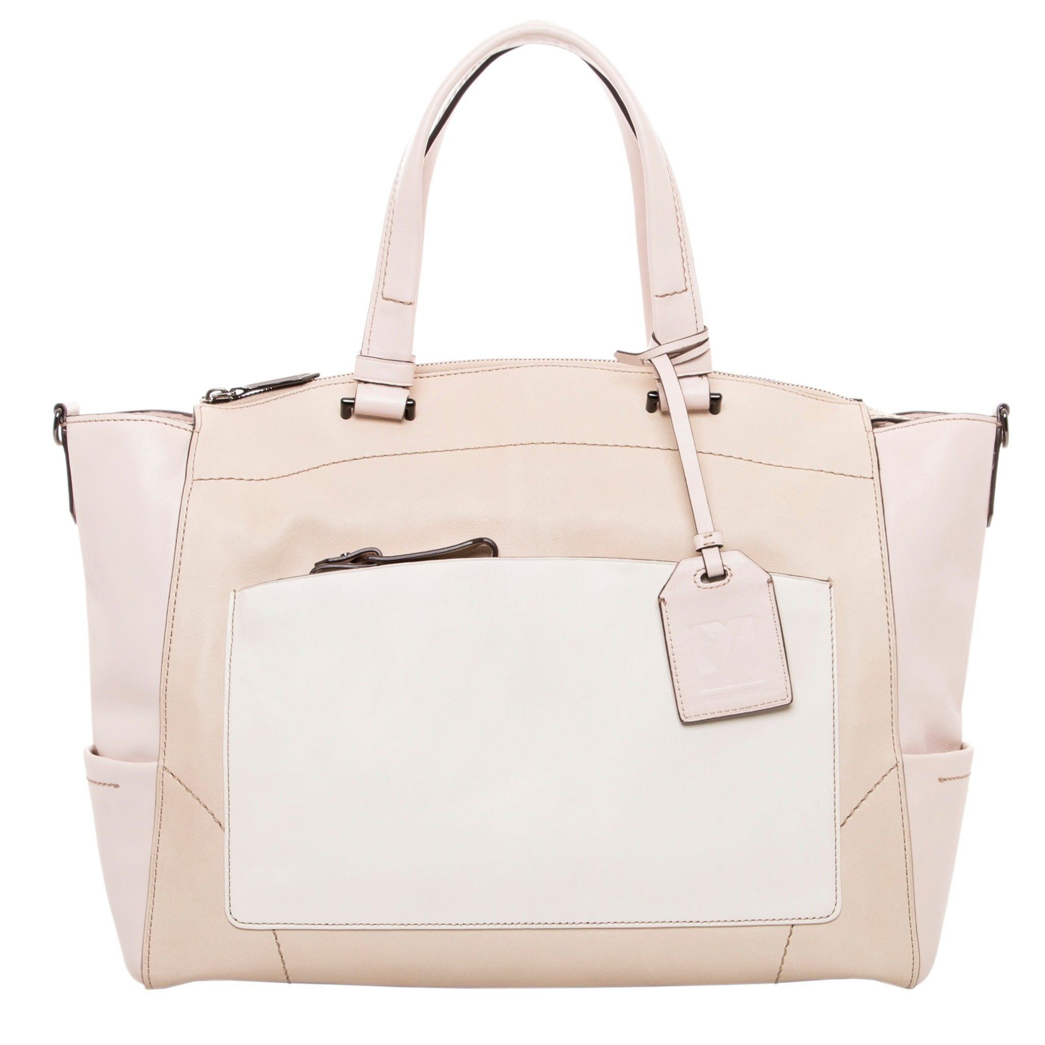 5d556cafd236 Shop Reed Krakoff Soft Colorblocked Leather Tote Bag - Free Shipping Today  - Overstock.com - 8969724