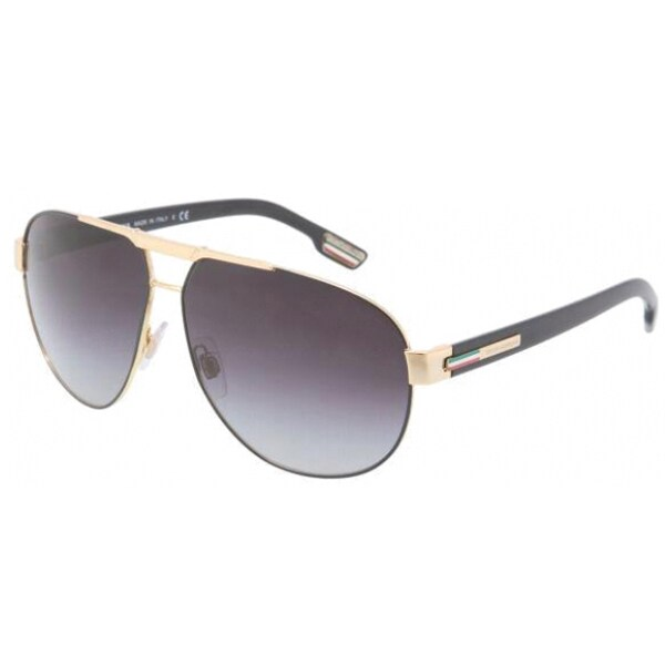 b516c61fc561 Shop Dolce   Gabbana Men s  DG 2099 10818G  Aviator Sunglasses - Free  Shipping Today - Overstock - 8970551