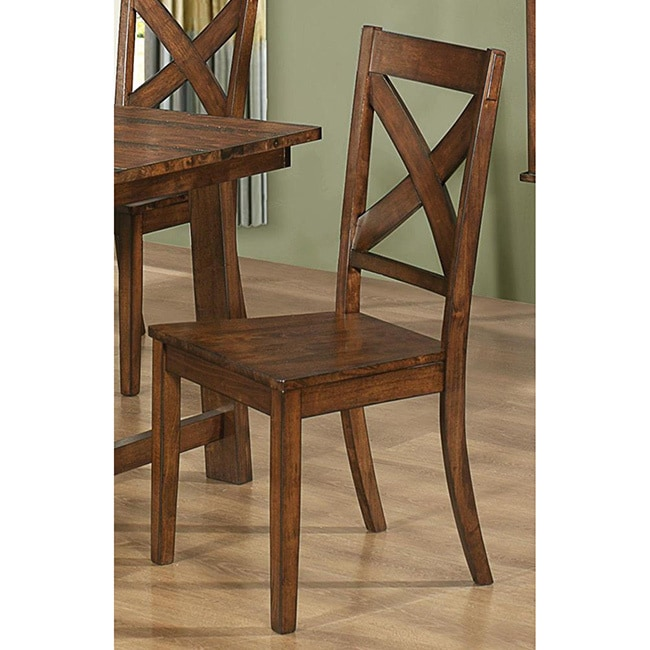 Shop Vintage Rustic Pecan Wood Plank Dining Set   Free Shipping Today    Overstock   8970587