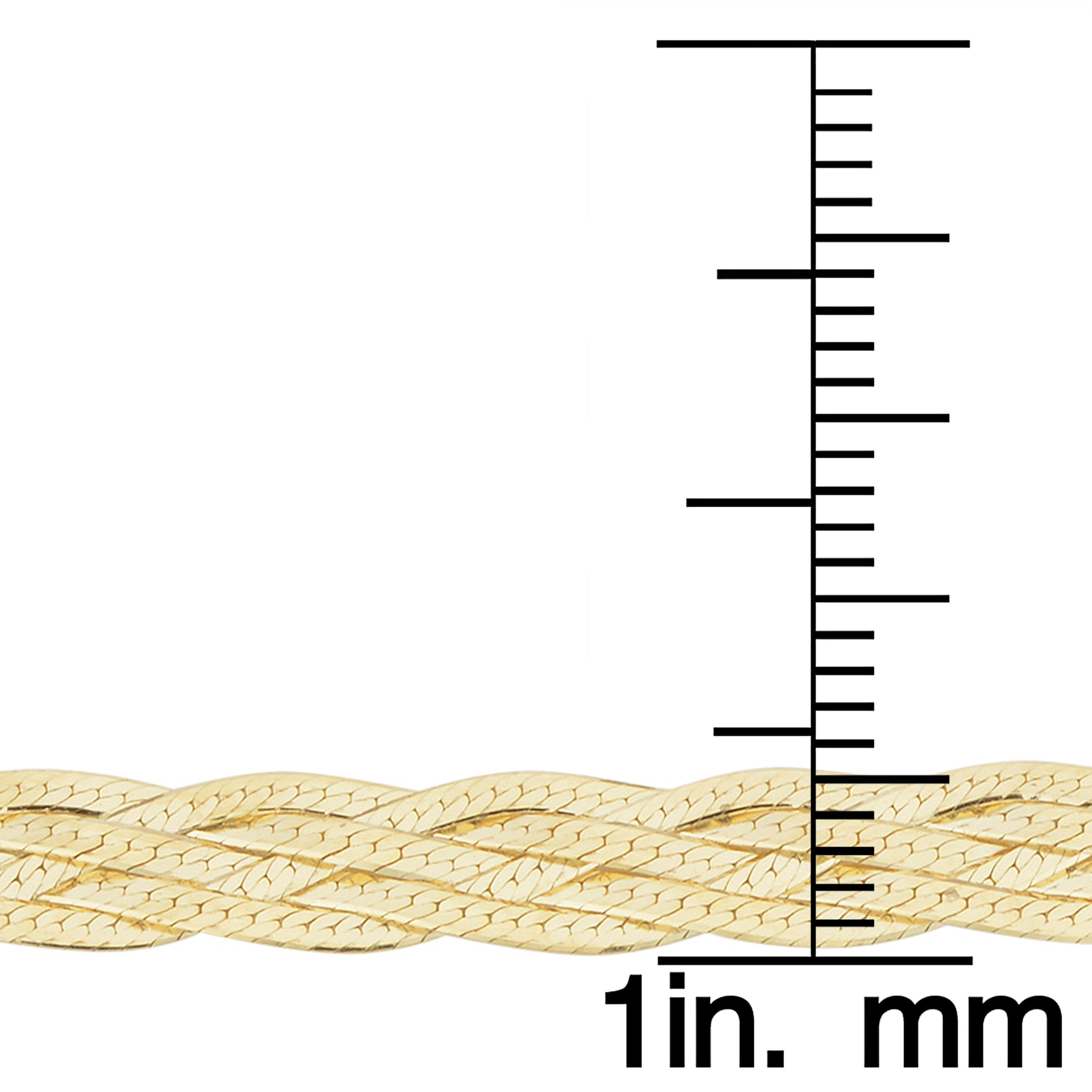 Fremada 10k Yellow Gold 5-strand Braided Herringbone Bracelet (7 5 inch)
