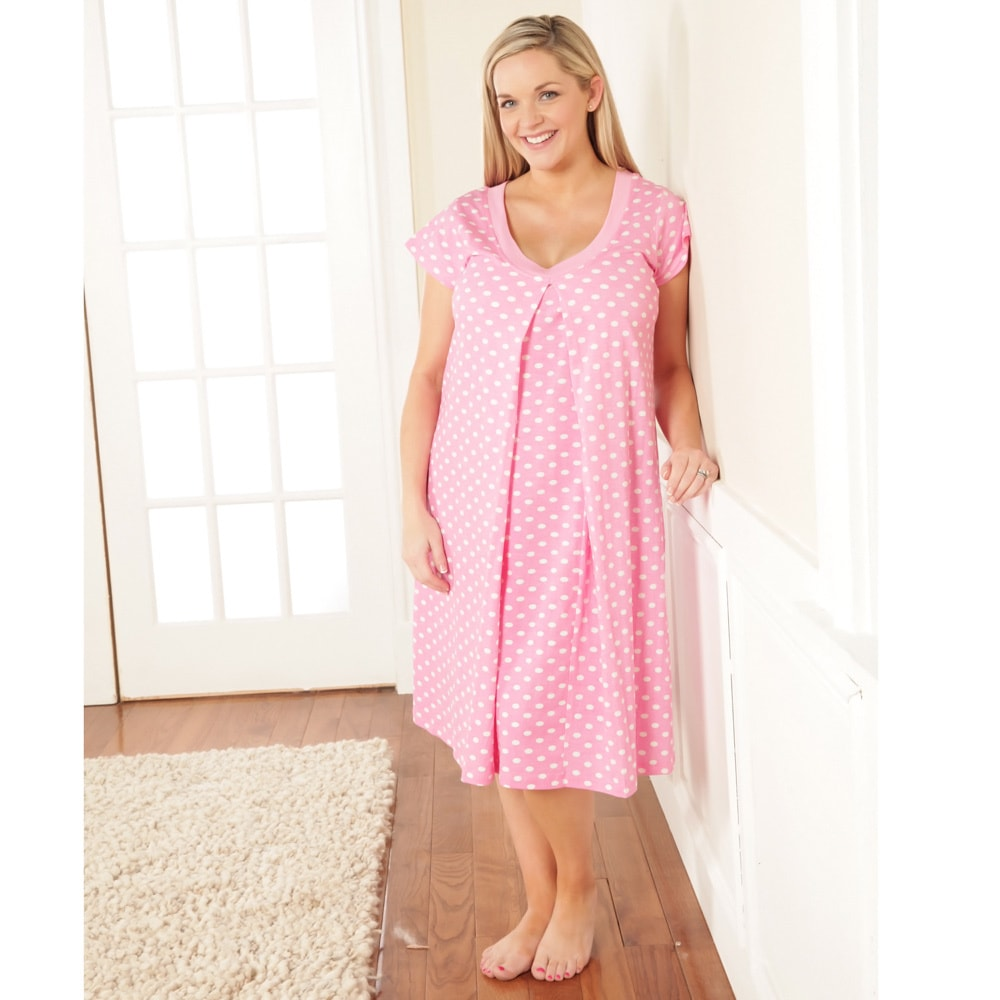 c3f7cd3875025 Shop Baby Be Mine Nursing Nightgown Set in Molly - Free Shipping Today -  Overstock - 8973700
