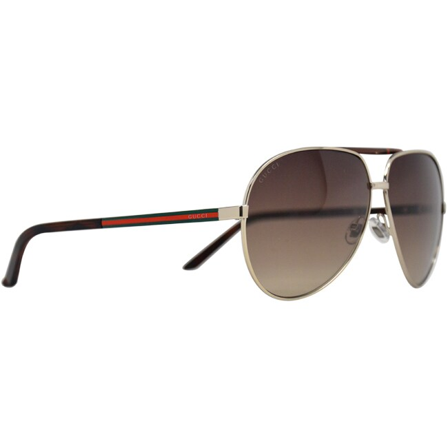3e7dbb6116 Shop Gucci Unisex  GG 1933 S  Gold  Havana Aviator Sunglasses - Free  Shipping Today - Overstock - 8973932