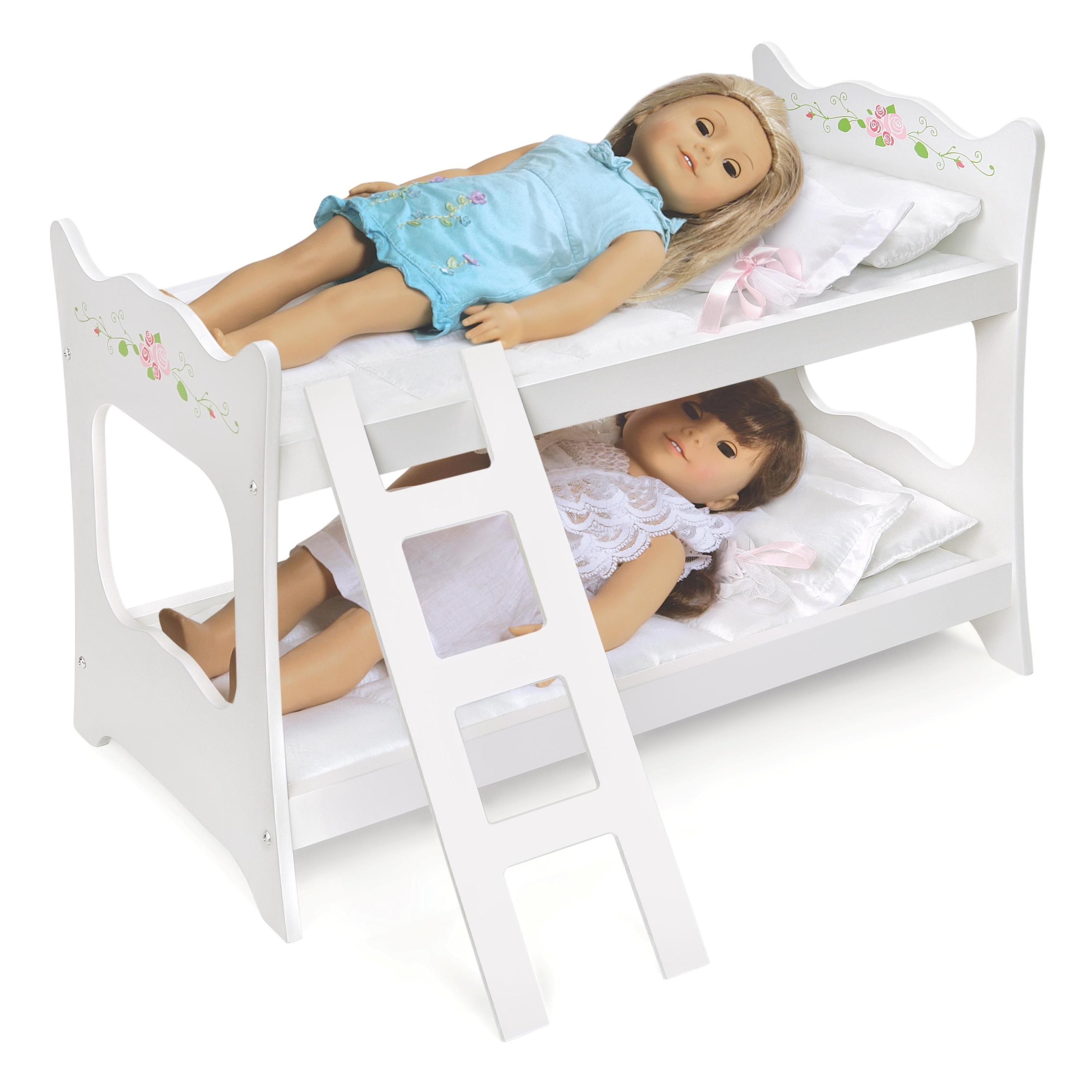 Shop Badger Basket White Rose Doll Bunk Bed Ships To Canada