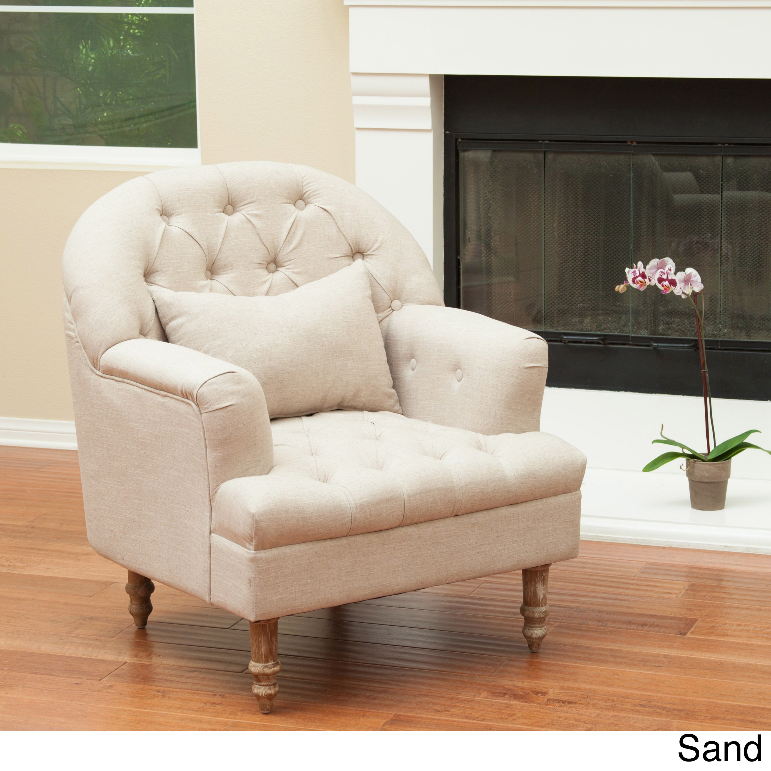Ordinaire Shop Anastasia Tufted Chair By Christopher Knight Home   On Sale   Free  Shipping Today   Overstock.com   8976702