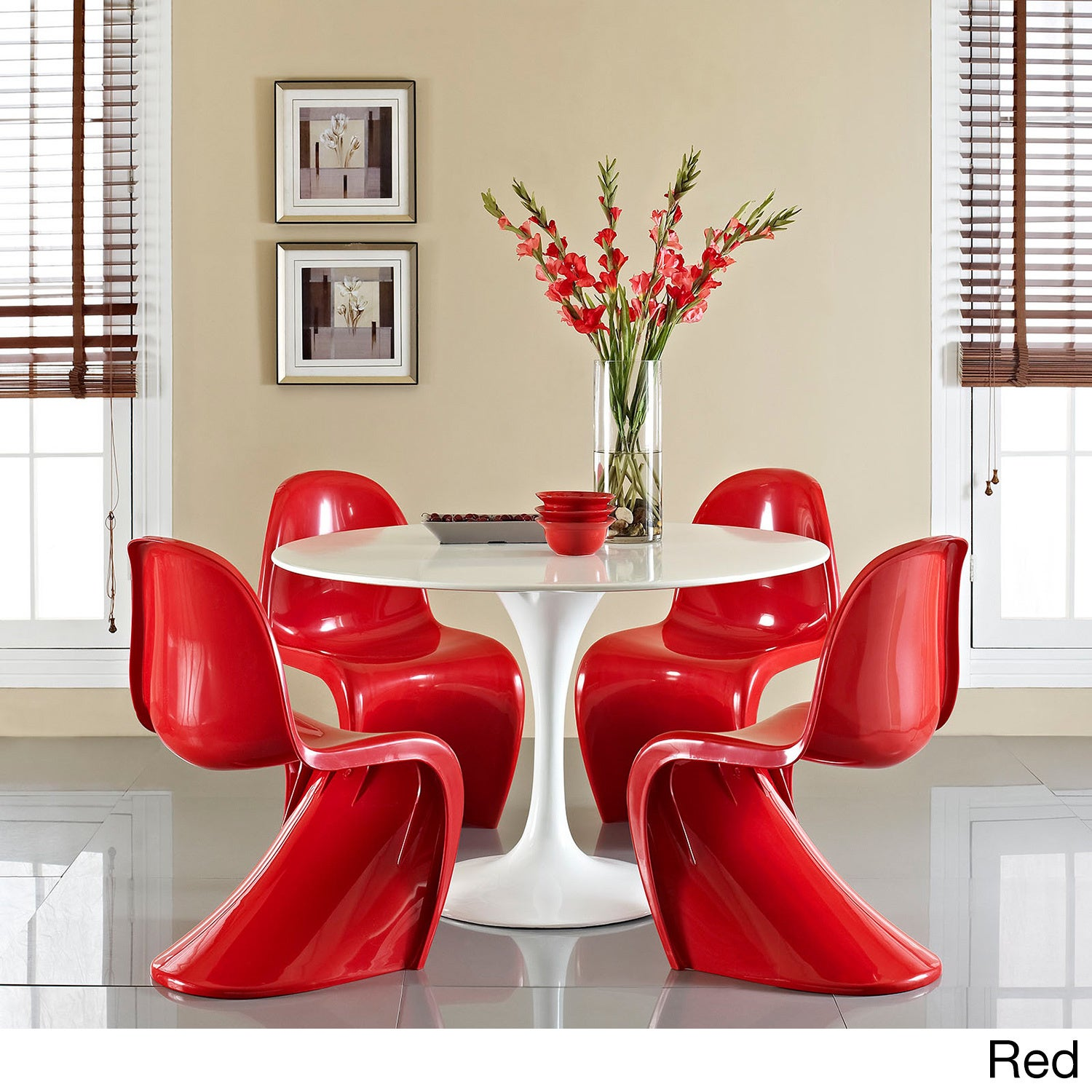 Verner Panton Style Chair (Set Of 4)   Free Shipping Today   Overstock    16186257