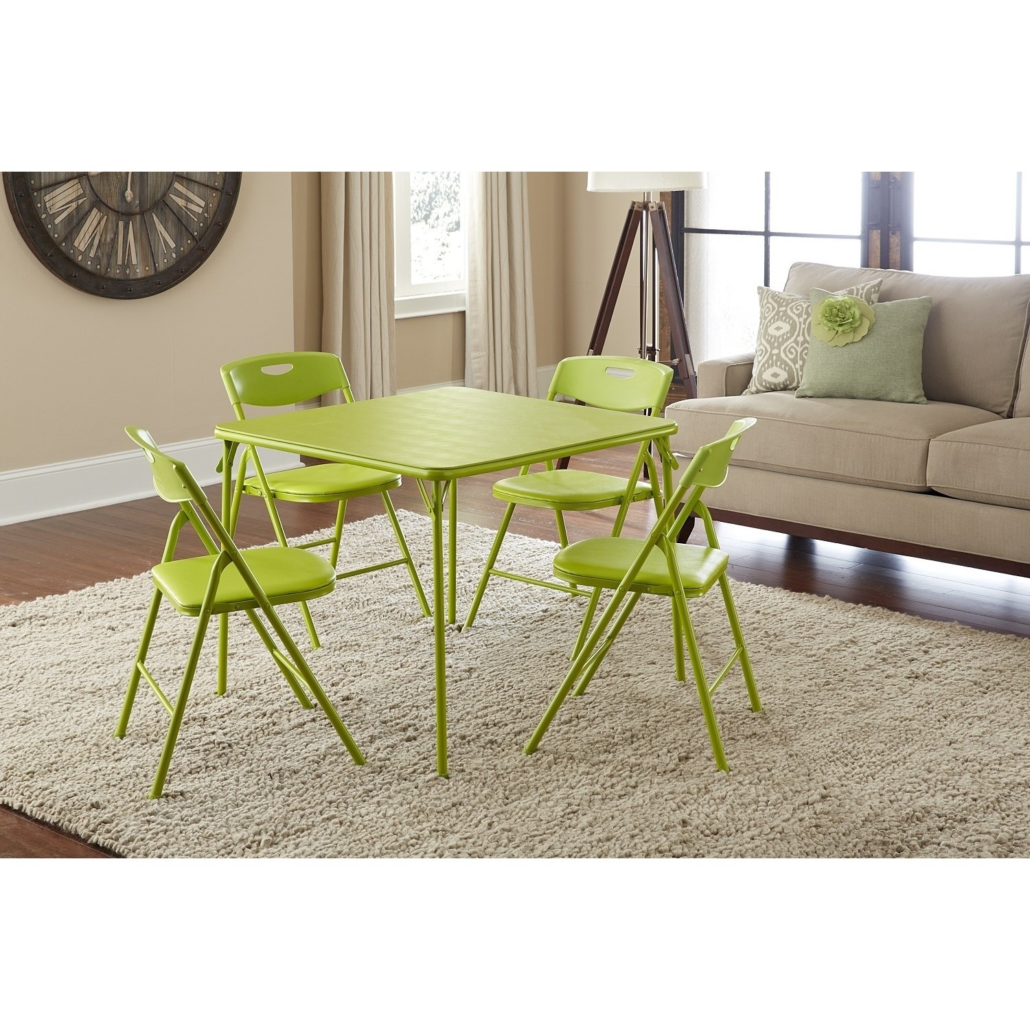 Shop The Curated Nomad Hillard 5-piece Folding Table and Chairs Set ...
