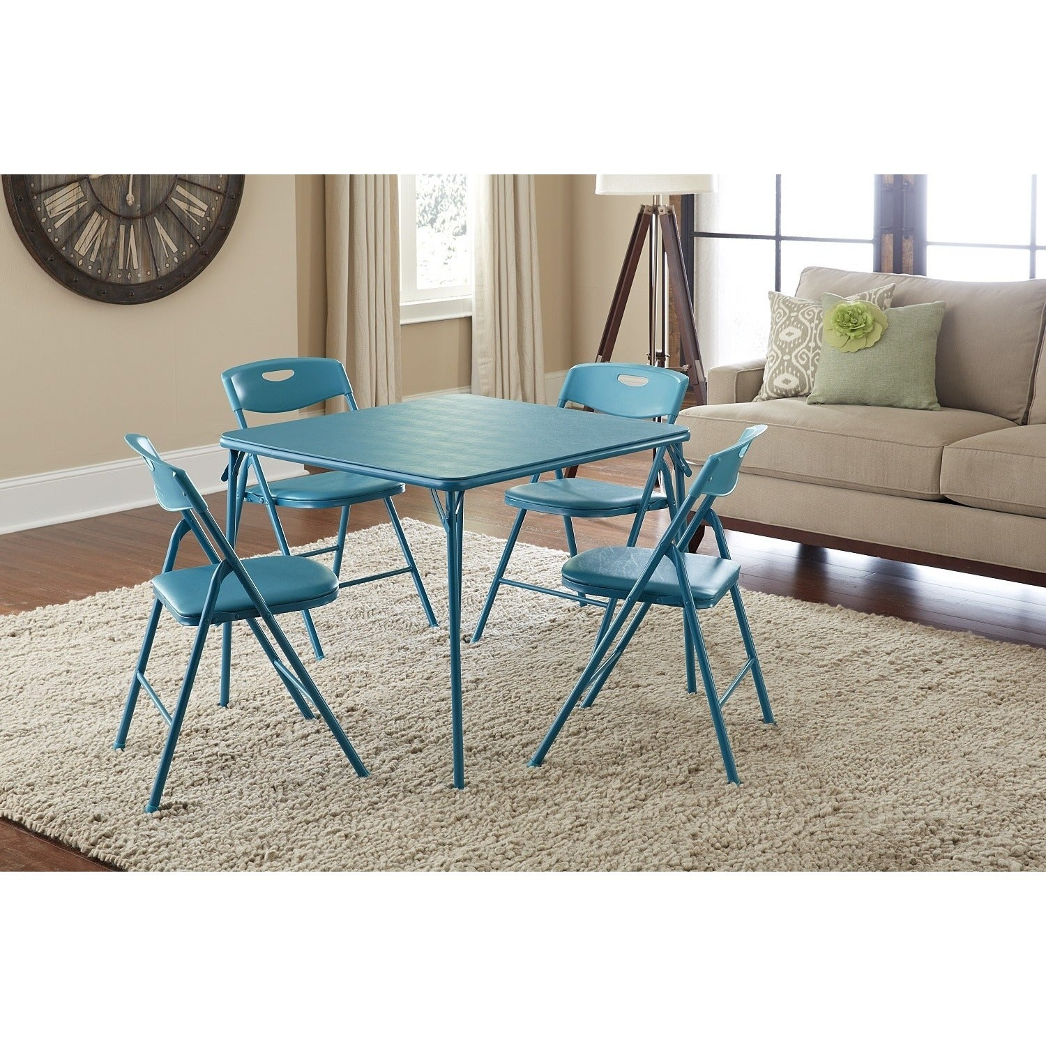 The Curated Nomad Hillard 5-piece Folding Table and Chairs Set ...