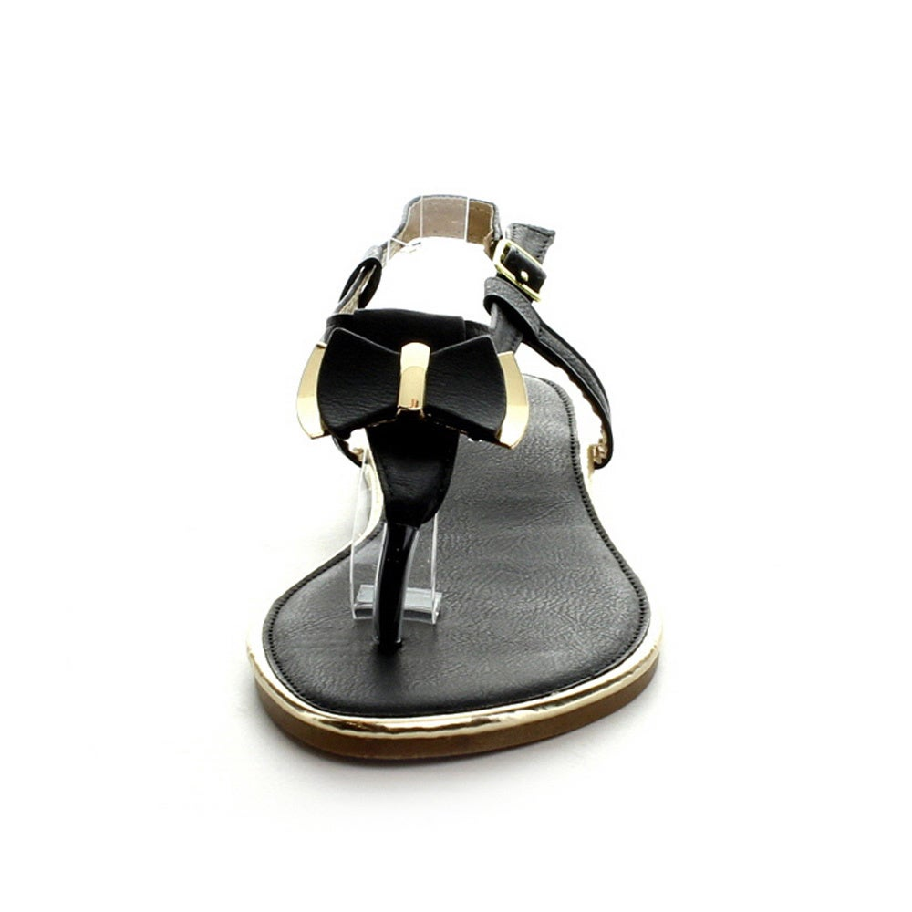 40374d04131d Shop I Heart Collection Ali-01 Women s T-Strap Flat Sandals - Free Shipping  On Orders Over  45 - Overstock - 8984095