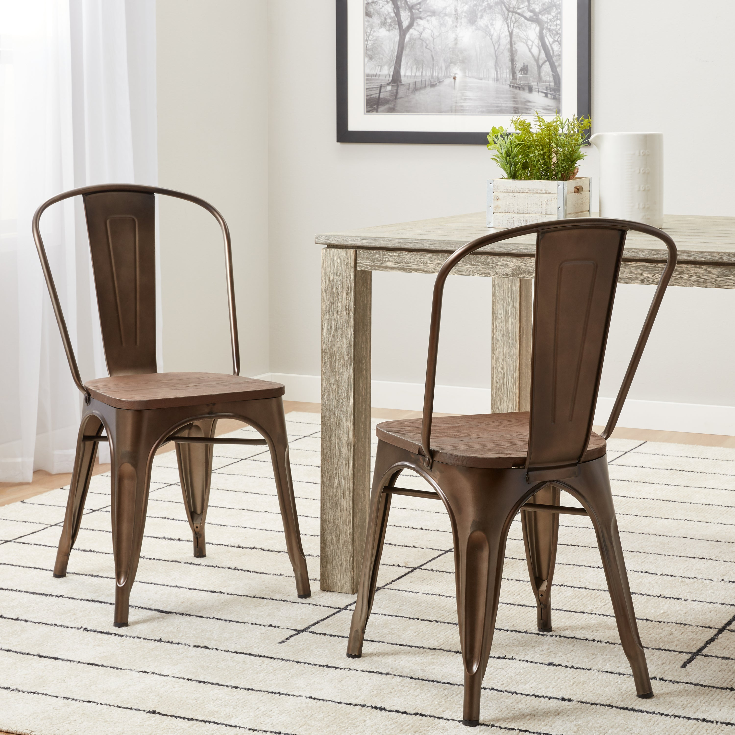Lovely Carbon Loft Tabouret Vintage Wood Seat Bistro Chair   Free Shipping Today    Overstock   16190403