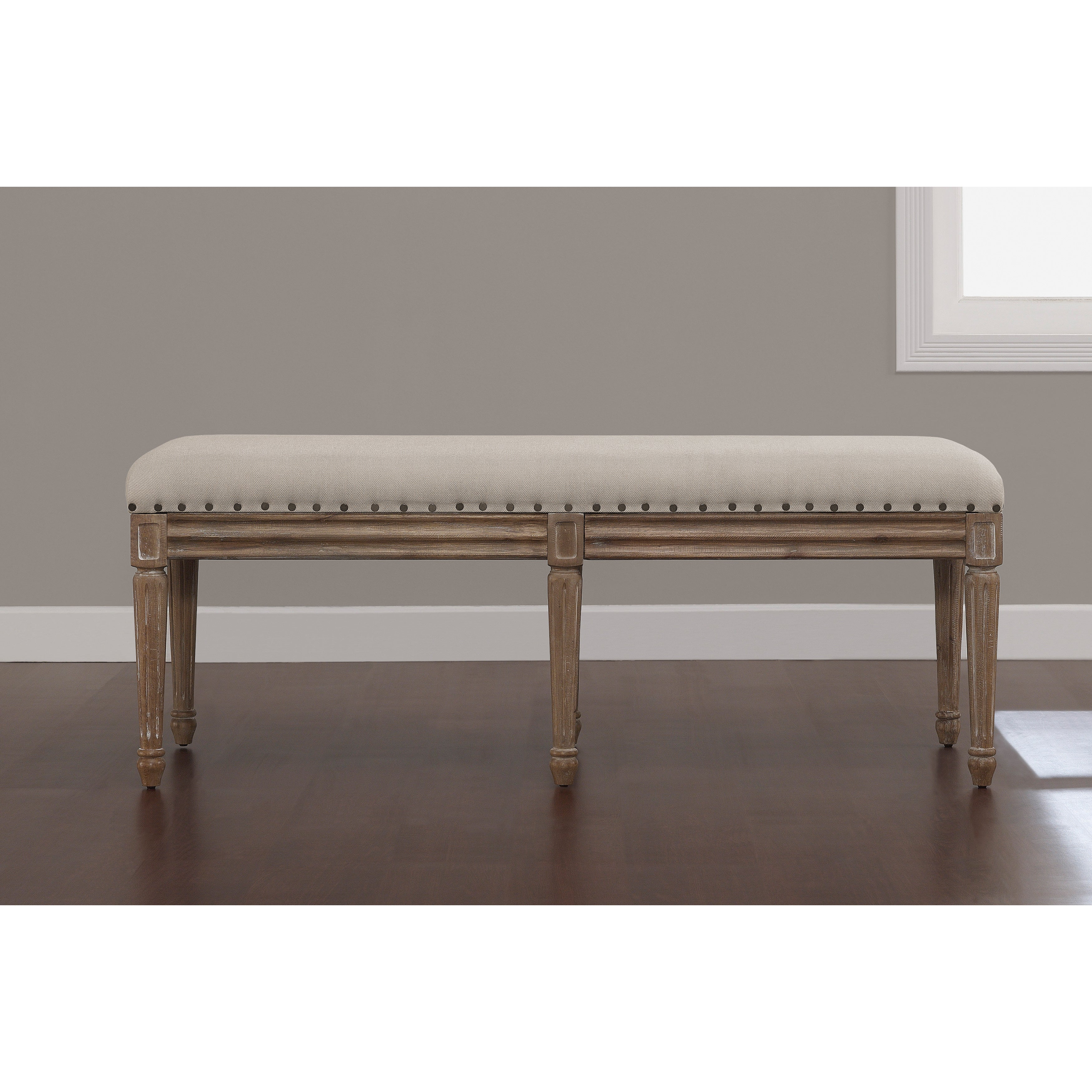 Ordinaire Shop Stones U0026 Stripes Elements Upholstered Dining Bench   Free Shipping  Today   Overstock.com   8984165
