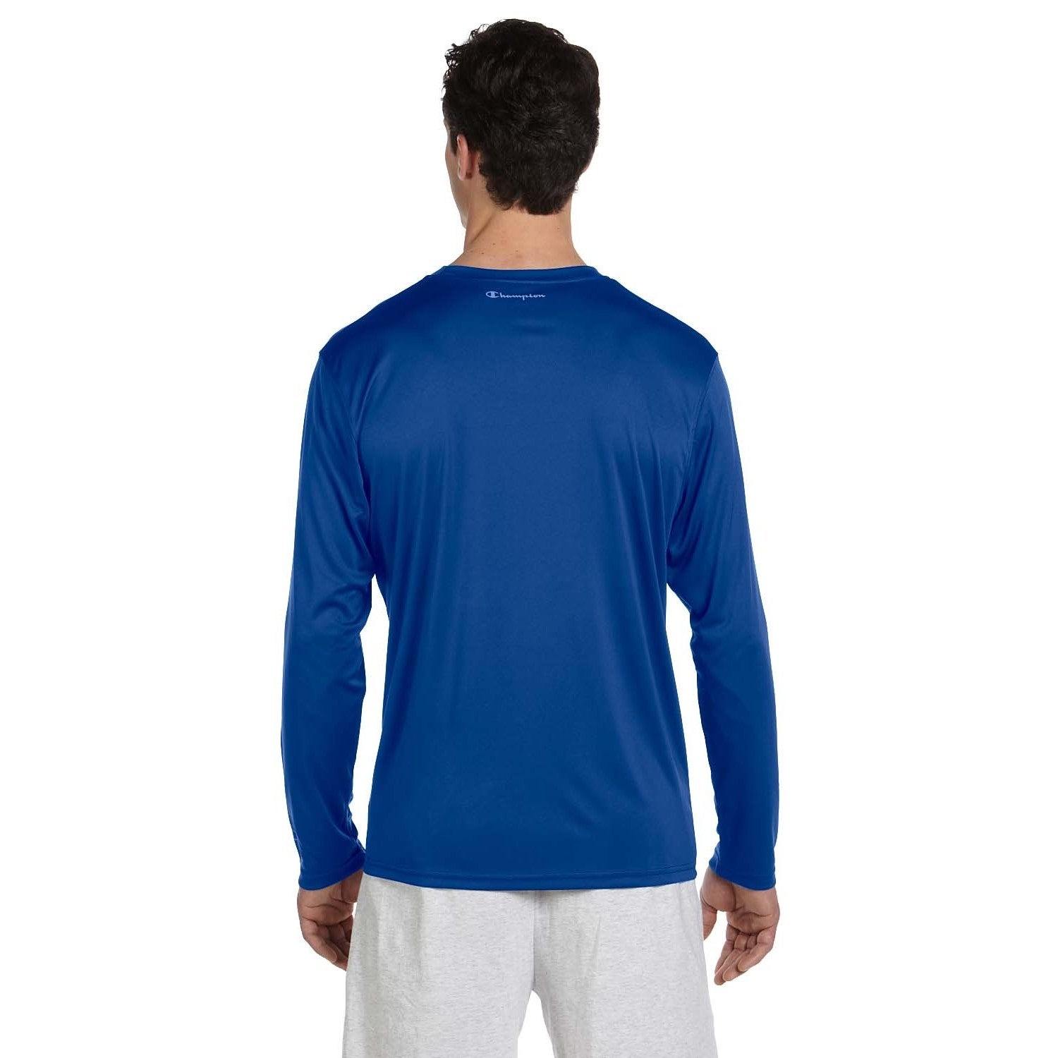 ffe70bcec Shop Champion Men's Double Dry Performance Long Sleeve T-shirt - On Sale - Free  Shipping On Orders Over $45 - Overstock - 8984873