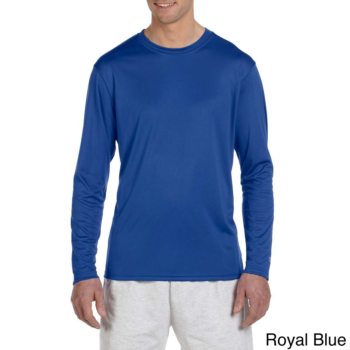 c32b5fcbe77c Shop Champion Men s Double Dry Performance Long Sleeve T-shirt - On Sale -  Free Shipping On Orders Over  45 - Overstock - 8984873