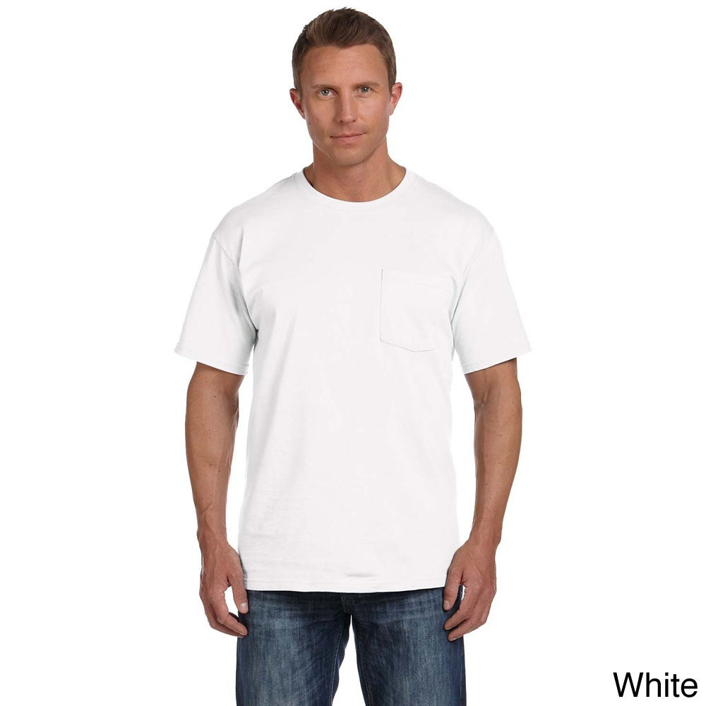 e0c56f441 Shop Fruit of the Loom Men's Heavyweight Cotton Chest-pocket Crewneck T- shirt - Free Shipping On Orders Over $45 - Overstock - 8984957
