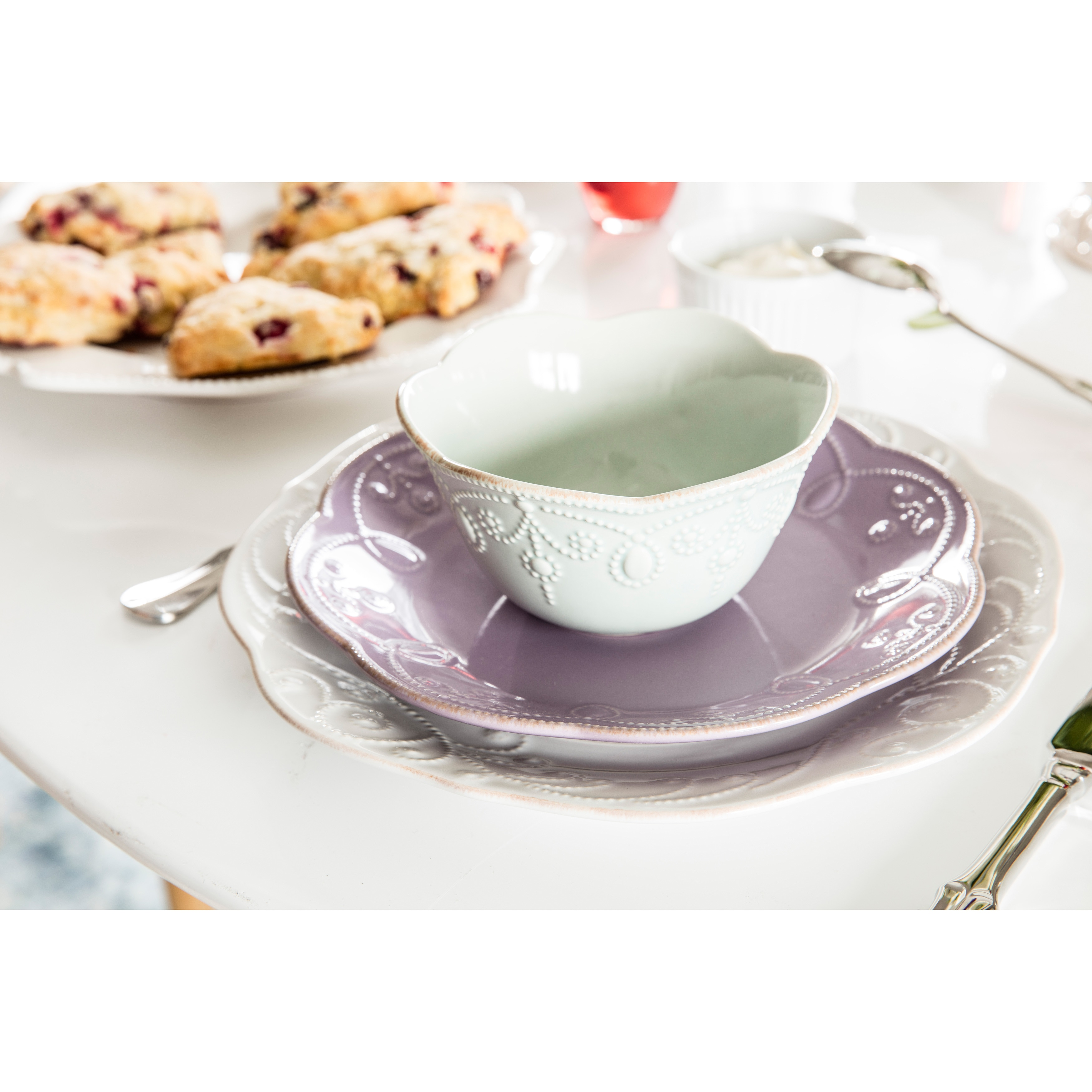Lenox Violet French Perle 4-piece Dinnerware Set - Free Shipping Today - Overstock - 16191028  sc 1 st  Overstock.com & Lenox Violet French Perle 4-piece Dinnerware Set - Free Shipping ...