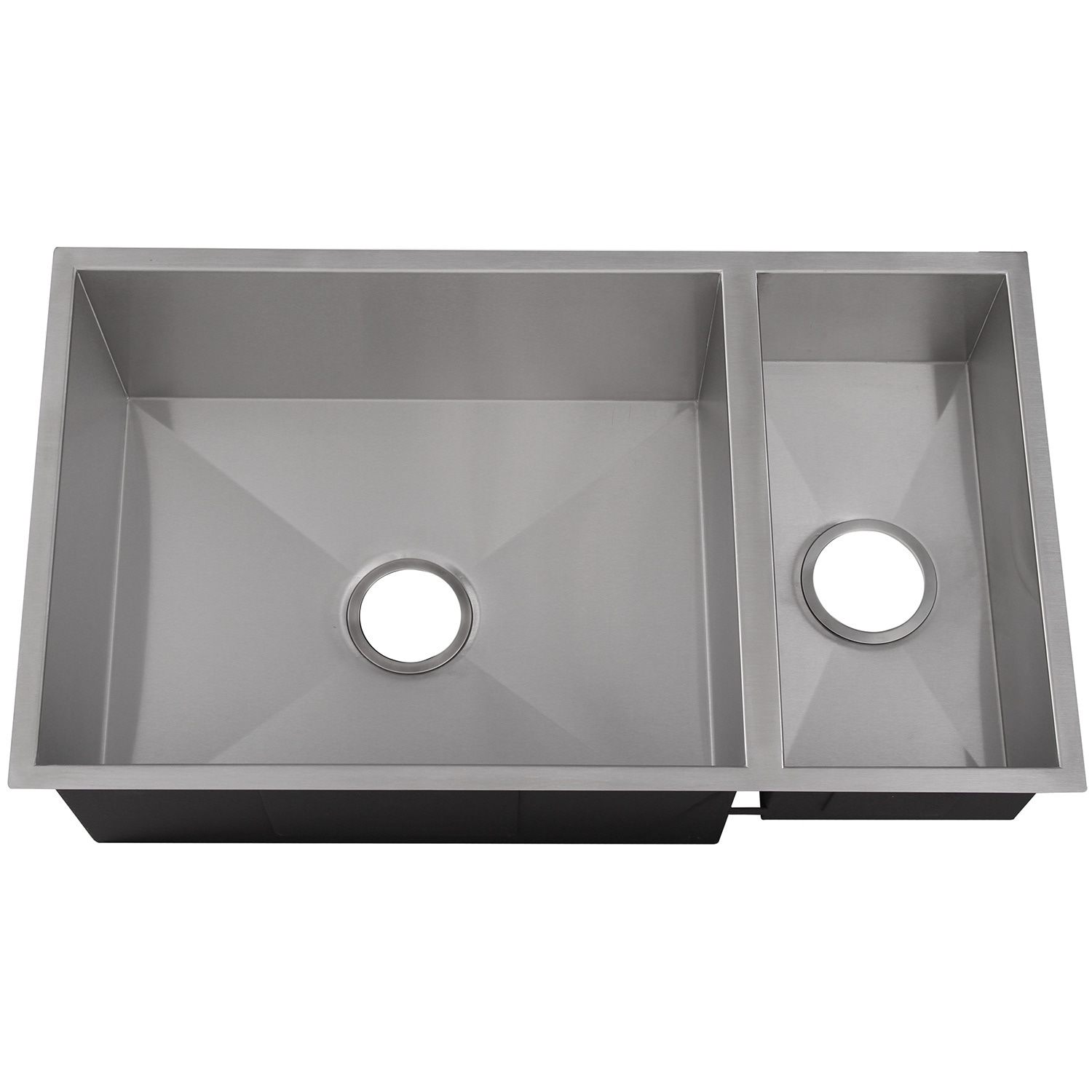 Ticor 32 inch 16 gauge stainless steel double bowl undermount square ticor 32 inch 16 gauge stainless steel double bowl undermount square kitchen sink free shipping today overstock 16191420 workwithnaturefo
