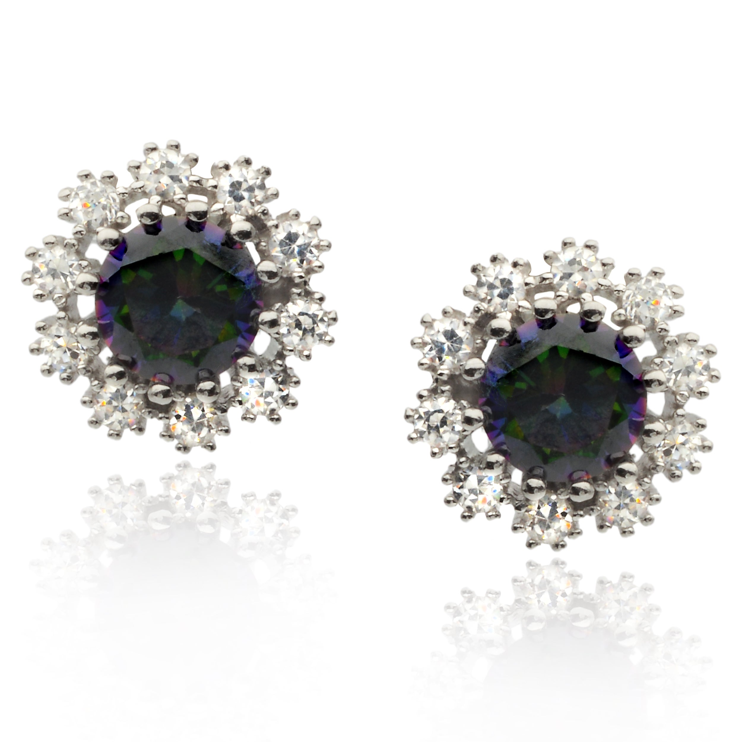 store gemstone multicolor stud sapphire fancy earrings