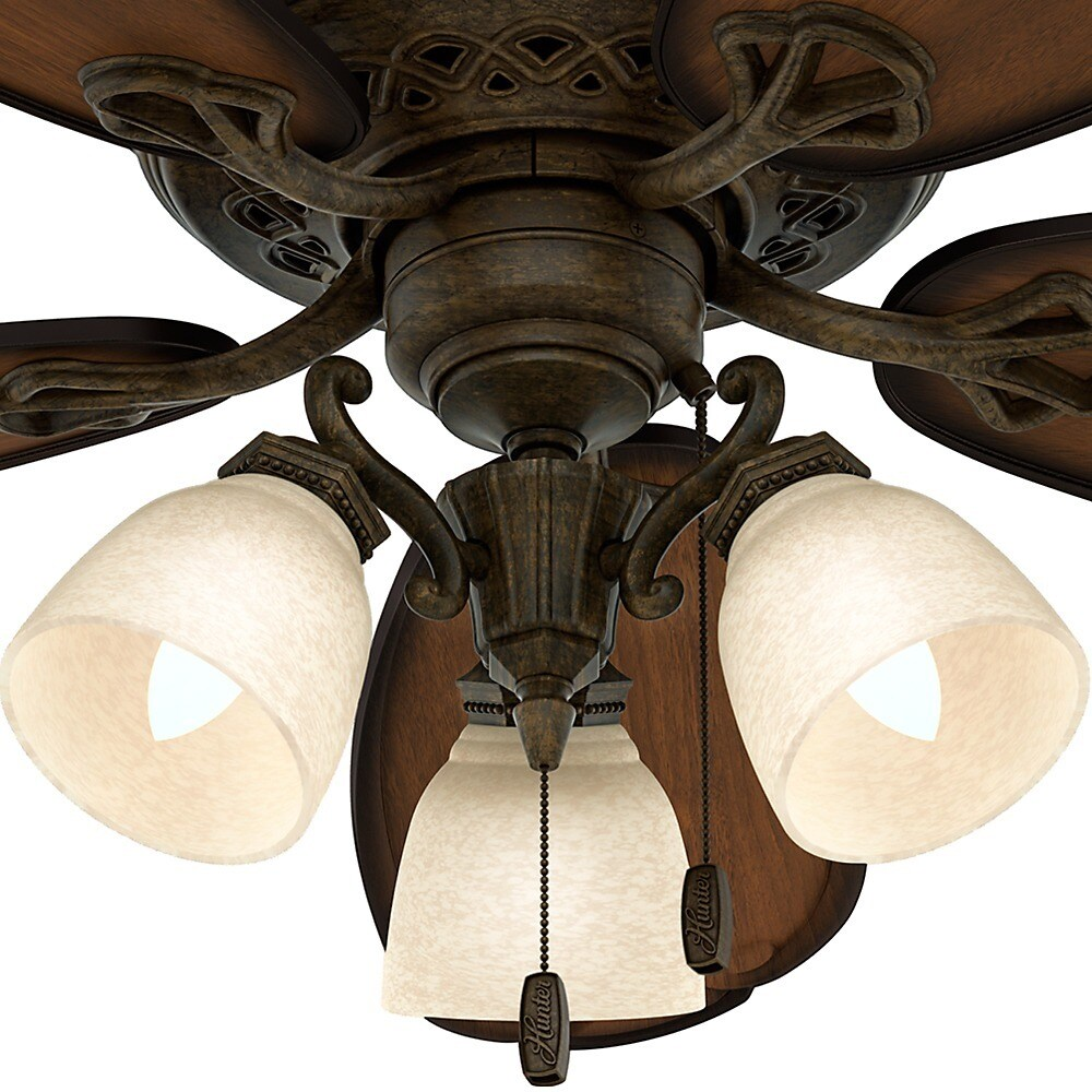 Hunter Crown Park Tuscan Gold Roasted Cherry 54 Inch Ceiling Fan Free Today Com 8985757