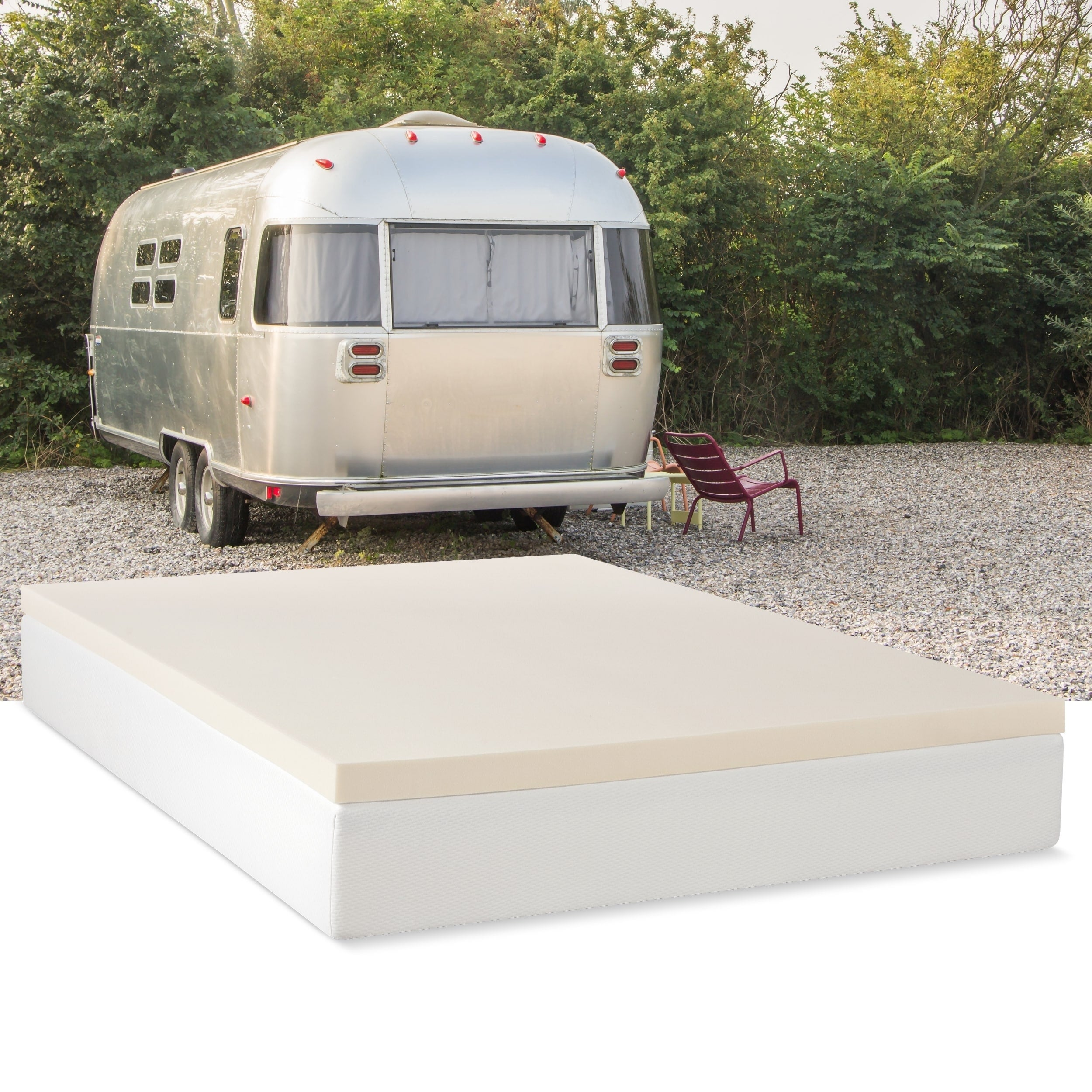 Select Luxury Rv 2 Inch Memory Foam Mattress Topper Overstock 8988320
