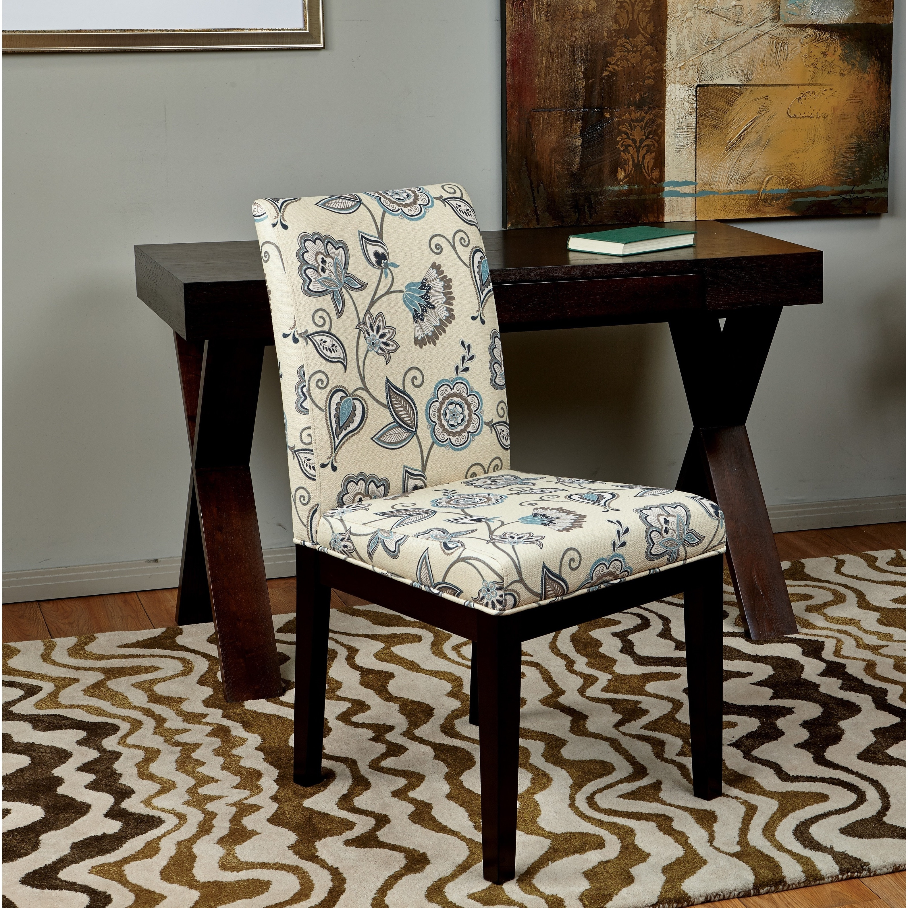 Attirant Shop Office Star Products Dakota Parsons Paisley/Scroll Floral Upholstered  Armless Chair   Free Shipping Today   Overstock.com   8988406